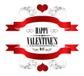 Happy Valentine S Day Greeting Card On White Stock Photos - 36132483