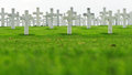 Marble Crosses On A Cemetery Stock Image - 36133221