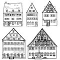 Houses Set Isolated On White Background. European Building Collection. Stock Images - 36134614