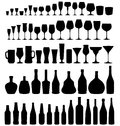 Glass And Bottle  Set Royalty Free Stock Images - 36135239