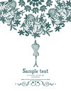 Vintage Crochet And Mannequin Sewing Card Royalty Free Stock Photos - 36137478