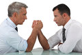 Businessmen Arm Wrestling Royalty Free Stock Images - 36140809