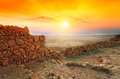 Sunrise Over Masada Fortress Royalty Free Stock Photos - 36145638
