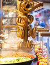 Pretzels And Food At German Christmas Market Royalty Free Stock Images - 36161379