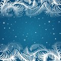 Vector Frame Of Frosty Pattern Royalty Free Stock Image - 36163606