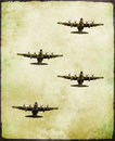 Group Of Military Fighter Plane In Grunge Style Stock Images - 36164264