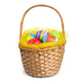 Easter Eggs In A Basket Stock Photos - 36182963