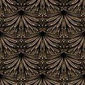 Art Deco Vector Floral Pattern Stock Photo - 36183540