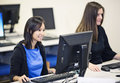 College Students In A Computer Lab Royalty Free Stock Photos - 36184018