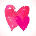 Vector Grunge Card With Hand Painted Hearts Stock Image - 36185291
