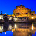St.Angelo Bridge And Castle Sant Angelo Royalty Free Stock Image - 36189196