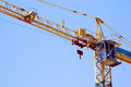 Control Cabin Arm And Pulleys On High Lift Crane Royalty Free Stock Photo - 36206585