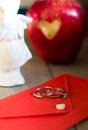 Red Envelope And White Heart Royalty Free Stock Image - 36241516