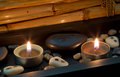 Spa Decoration In Asian Style With Stones And Candle Royalty Free Stock Photo - 36244265