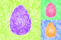 Easter Abstract Swirl Seamless Pattern Set Royalty Free Stock Photos - 36246828