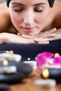 Pretty Young Woman Relaxing At Spa Stock Photo - 36253040