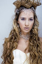Beauty Young Snow Queen In Fairy Flashes Royalty Free Stock Image - 36262086