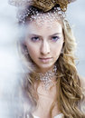 Beauty Young Snow Queen In Fairy Flashes Stock Image - 36262101