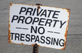 No Trespassing Stock Images - 36265714