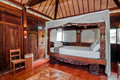 Wooden Java Style Bedroom Royalty Free Stock Images - 36270489