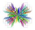 Complex Hypercubes - Abstract Geometrical Background Royalty Free Stock Photos - 36271378