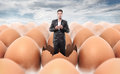 New Man Born From An Egg Shell Royalty Free Stock Image - 36275546