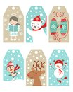 Christmas And New Year Gift Tags Royalty Free Stock Photo - 36277735