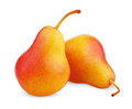 Two Ripe Red Yellow Pear Fruits Royalty Free Stock Photography - 36281447