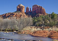 Cathedral Rock From Red Rock Crossing Royalty Free Stock Photography - 36287017