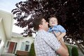 Father And Son Playing Outdoors Royalty Free Stock Photography - 36291217