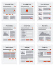 Internet Site Map Navigation Structure Prototype Royalty Free Stock Image - 36297336
