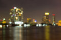 Bangkok Cityscape River View At Twilight Time, Blurred Photo Bok Royalty Free Stock Photos - 36297808