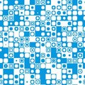 Seamless Tile Pattern Texture Icon Mosaic Blue Stock Photos - 3630863