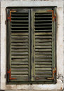 Faded Green Window Shutters Stock Photography - 3635192