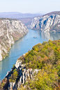 2000 Feet Of Vertical Cliffs Over Danube River At Djerdap Gorge And National Park Stock Photography - 36302062