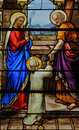 Stained Glass Window In The Church Of Houlgate In Normandy Stock Photos - 36307183