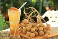 Longan Juice Cold Water Stock Photography - 36325682