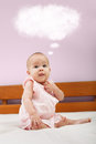 Little Baby Thinking Royalty Free Stock Images - 36329889