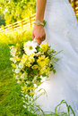 Bride Holding Bouquet Royalty Free Stock Photo - 36340125