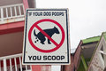 Dog Poop Sign Stock Images - 36341394