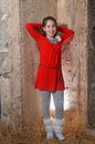 A Teenage Girl In An Ancient Abandoned Arab Building Royalty Free Stock Images - 36341759