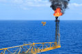 Hot Flare Boom And Fire On Offshore Production Platform Stock Photo - 36353350