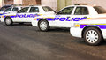 New York Police Cars In A Row Stock Photo - 36364740