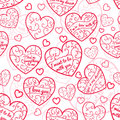 Seamless Pattern Of Hearts Royalty Free Stock Photo - 36367695