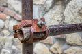 Vintage And Rusty Scaffolding Clamp Royalty Free Stock Image - 36378106