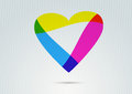 Banner With Transparent Colorful Valentine Heart Royalty Free Stock Image - 36409266