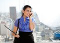 Young Female Executive On Call Royalty Free Stock Image - 36409466