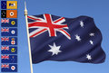 Australia - National And Provincial Flags Royalty Free Stock Image - 36418206