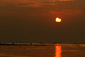 Solar Eclipse At Sunset Royalty Free Stock Photos - 36425688