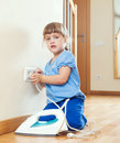 Girl  Playing With Electric Iron Stock Images - 36428614